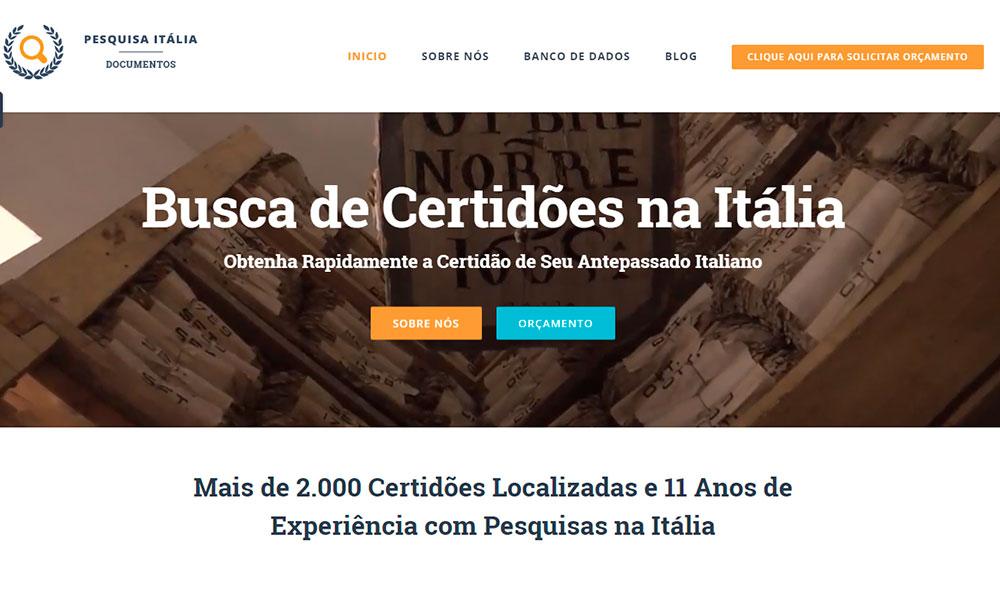 Site de busca de certidões na Itália online Pesquisa Itália